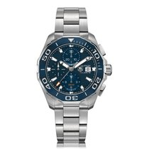 TAG Heuer Aquaracer Calibre 16 Stainless Steel Blue Mens Watch...