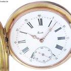 """Taschenuhr """"Boutte"""" Kalender Gold ca. 1880"""