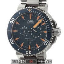 Oris Tubbataha Limited Edition Diver's Titanium Watch Blue...