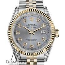Rolex 26mm Datejust Two-tone Grey Diamond Dial 18kyg &...