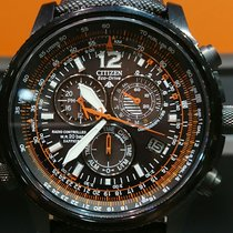 Citizen Radiocontrollato Chrono Pilot Black Steel
