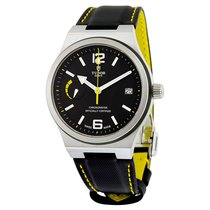 Tudor North Flag Automatic Black Dial Black Leather Mens Watch...
