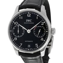 IWC IW500703 Portuguieser 7 Day Automatic in Steel - on Black...