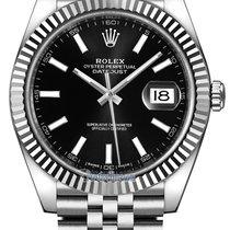 Rolex Datejust 41mm Stainless Steel 126334 Black Index Jubilee