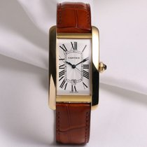 Cartier Mens Cartier Tank Americaine Automatic 18K Yellow Gold