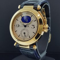 Cartier Pasha 38mm 18k Yellow Gold Moon Phase Date Quartz Rare...