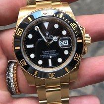 Rolex Submariner oro gold ceramica full set super black
