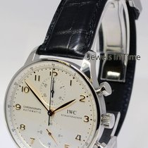IWC 3714 Portuguese Chronograph Steel Watch & Deployant...