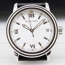 Blancpain 2100-1127-53B Leman SS White Dial (26859)