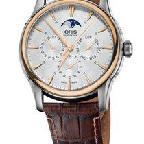 Oris Artelier Complication Gold/Steel Crocodile Leather