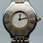 Cartier MUST 21 LADY STEEL GOLD PLATED