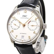 IWC IW500704 Portuguese 7 Day Automatic in Steel - on Black...