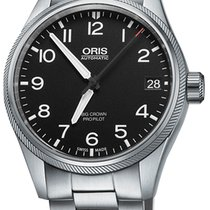 Oris Big Crown ProPilot Date, Black Dial, Steel Bracelet