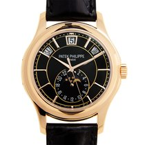 Patek Philippe Complications 18k Rose Gold Black Automatic...