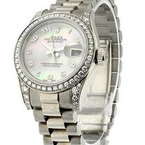 Rolex Used 179159_used_MOP Ladys White Gold President with...