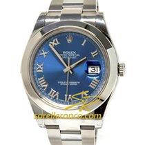 Rolex Datejust II Blue Dial Roman index