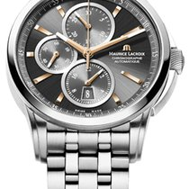 Maurice Lacroix Pontos Chronographe Date, Black Dial Gold...