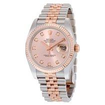 Rolex Oyster Perpetual Datejust 18K Rose Gold Diamonds