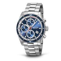 Eberhard & Co. Champion V cronografo, quadrante blu, acciaio