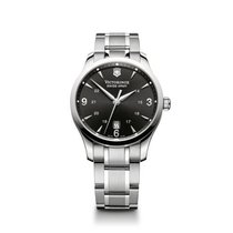 Victorinox Swiss Army Alliance quartz, black dial, steel...
