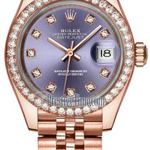 Rolex Lady Datejust 28mm Everose Gold 279135RBR Aubergine...