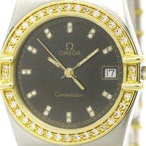Omega Polished Omega Constellation Diamond K18 Gold Steel...