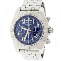 Breitling Chronomat B01 44 Blue Roman Dial Steel AB0110