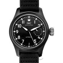 IWC Big Pilot's Watch Top Gun Black Ceramic/Leather 46mm -...