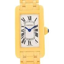Cartier Tank Americaine 18k Yellow Gold Women's Watch...