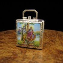 Ebel Reiseuhr Klappuhr Taschenuhr 9kt Gold Carree Form