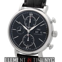 IWC Portofino Collection Chronograph Stainless Steel Black...