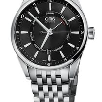 Oris Artix Pointer Day, Date, Black Dial, Steel Bracelet