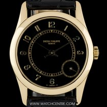 Patek Philippe 18k Yellow Gold Black Dial Calatrava Gents 5000J