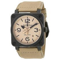 Bell & Ross Men's BR0392-DESERT-CE Aviation Ceramic...