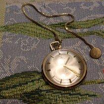 Dugena Taschenuhr Gold 585 mit kurzerKnopf- Kette