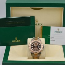 Rolex Yacht-Master 40MM Two Tone Rose Gold Chocolate Dial 116621