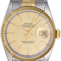 Rolex Men's Steel & Gold Rolex Datejust Watch 16013...