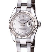 Rolex Datejust 26 mm Pearl Dial Diamond Index White Gold 179179