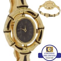 Gucci Vintage Ladies Gucci Bamboo Enamel Solid 18k Yellow Gold...