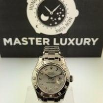 Rolex 80319 PearlMaster 29 WG 12 Diam Bezel Silver Diamond Dial