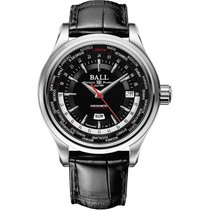 Ball Trainmaster Worldtimer Automatik Herrenuhr GM2020D-LL1CJ-BK