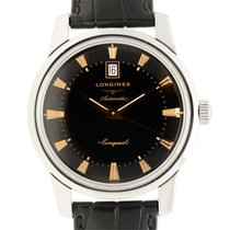 론진 (Longines) Heritage Stainless Steel Black Automatic...