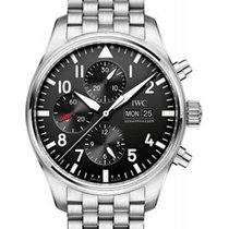 IWC IW377710 Classic Pilots Chronograph in Steel - on Steel...