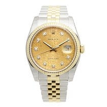 Rolex Datejust Gold And Steel Gold Automatic 116233JCH