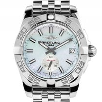 Breitling Galactic Stahl Perlmutt Automatik Armband Stahl 36mm...