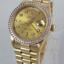 Rolex President Day Date Mens 18k Gold 18038 Diamond Dial...