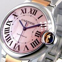 Cartier Ballon Bleu W6920033 37 Mm Midsize Steel Pink Gold...