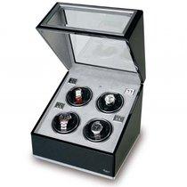 Rapport Ebenholz + Aluminium Quad Watch Winder 250 x 300 x 285 mm