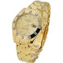 Rolex Unworn 81318champ_dd Mid Size Yellow Gold Masterpiece -...