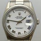 Rolex 18k White Gold Day-Date Mens Watch